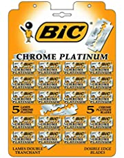 BIC Classic Barber Manual Double Edge Safety Razor for Men and Women With Chrome Platinum Covering, Silver, 100 Count