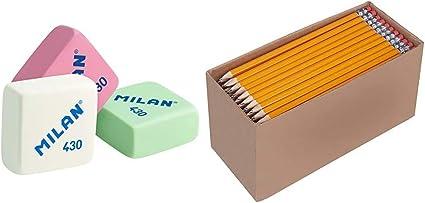 Milan 430 - Caja de 30 gomas de borrar, miga de pan + AmazonBasics ...