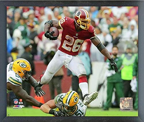 Adrian Peterson Framed - Adrian Peterson Washington Redskins 2018 Action Photo (Size: 17