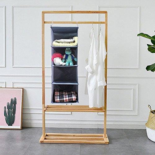 Senior Shop 4-Tier Hanging Closet Organizer, Collapsible Closet Hanging Shelf (gray) by Senior Shop (Image #6)