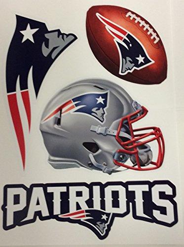 Cheap  New England Patriots FATHEAD Set of 4 Team Logo Official NFL Vinyl..