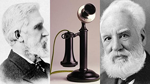 Gifts Delight Laminated 42x24 Poster: Alexander Graham Bell - Elisha-Gray-Alexander-Graham-Bell. Inventos, cientficos e Inventores.Inventions Scientists