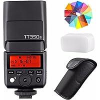 Godox TT350S 2.4G HSS 1/8000s TTL GN36 Wireless Speedlite Flash for Sony Mirrorless DSLR A7 A7R A7S A7-II A7R-II A7R-III A7S-II A6300 A6000 with EACHSHOT Color Filter