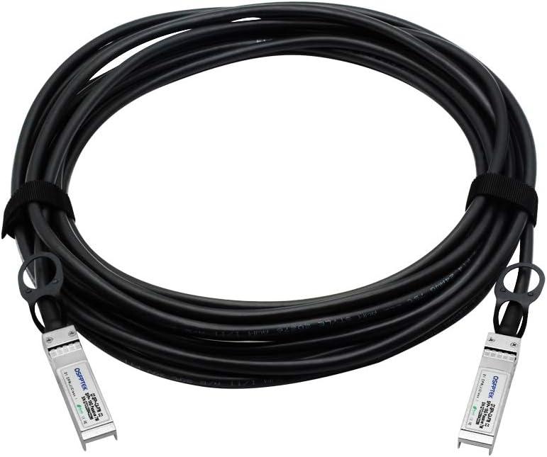 10ft 3m QSFPTEK 10G SFP+ DAC Cable Open Switch Devices Ubiquiti Netgear Mikrotik D-Link Passive Direct Attach Copper Twinax Cable for Cisco SFP-H10GB-CU3M