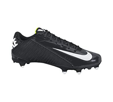Amazon.com | NIKE Mens Vapor Strike 4 Low D Football Cleats  Black/White-Volt Synthetic | Football