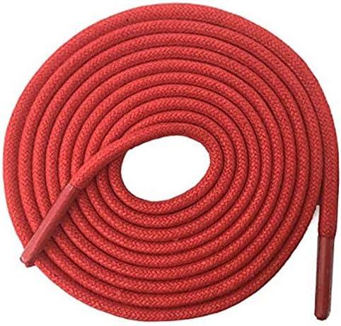 TMYQM 普通のブーツスニーカー のための固体太いラウンドワックス靴ひもドレスレザーシューズワックス靴ひもロープ文字列 (Color : 13 Big Red, Size : 180 cm)