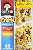 Quaker Chewy Granola Bars Sixty Bar Variety Pack (.84 oz each)