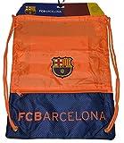 Fc Barcelona GYM Sack BAG Drawstring Backpack Cinch Bag Authentic Official Away Orange