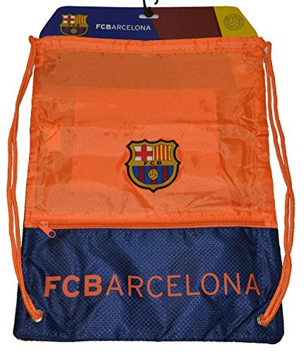 Fc Barcelona GYM Sack BAG Drawstring Backpack Cinch Bag Authentic Official Away Orange by Rhinox