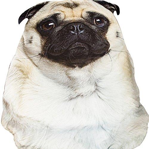 3D Animal Prints Blanket Bedding Dog Shaped Summer Quilt Pug Comforter Washable Light (Print Pug Dog)