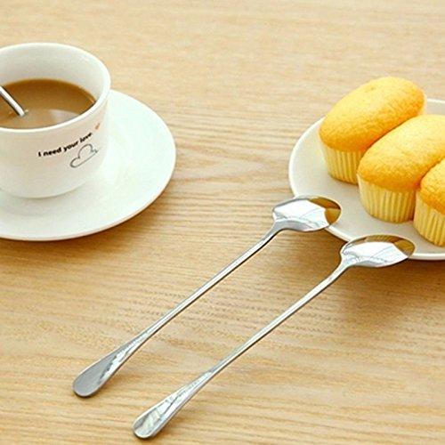 Oyfel Cuchara Acero Inoxidable para t/é Espresso Postre Pastel Sopa 4/pcs