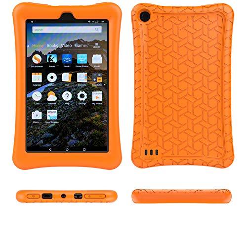 F i r e 7 2017 Case Cover-TIRIN Light Weight Shock Proof,Skid Proof Soft Silicone Back Cover Case for F i r e 7 2017(Do not Fit F i r e 7 2015), Orange