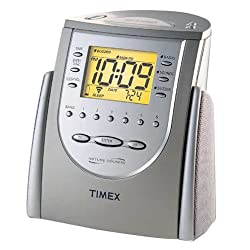 Timex T309T Alarm Clock Radio with Nature Sounds (Titanium) (Discontinued by Manufacturer)