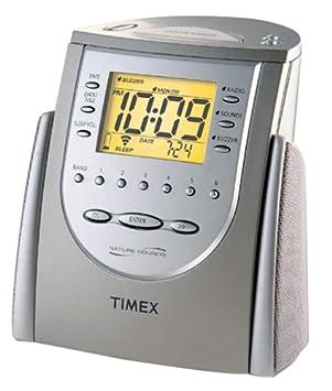 Timex t309t Radio Reloj Despertador con sonidos de la ...