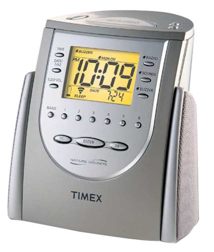 Timex T309T Alarm Clock Radio with Nature Sounds