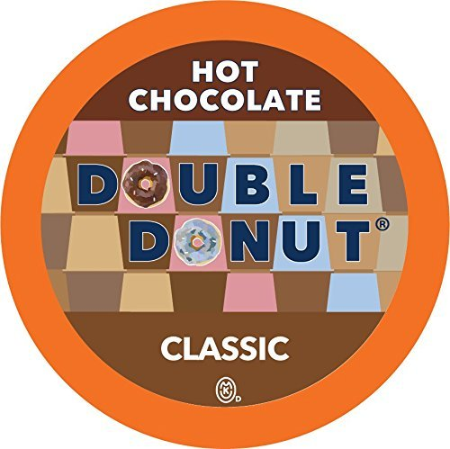 Double Donut Hot Chocolate, Single Serve Cups for Keurig K Cup Brewers, 24 Count (Classic Chocolate)