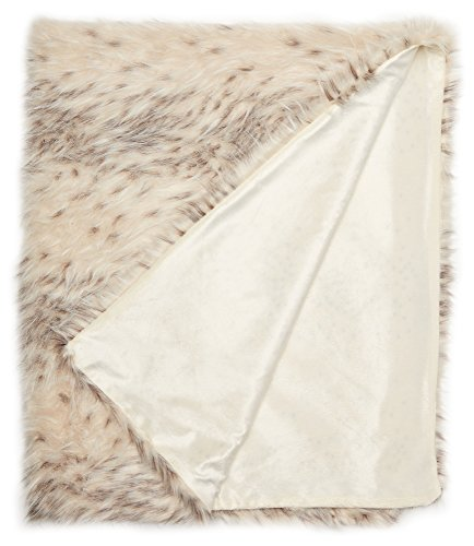 "Chic Home 1 Piece Hadar Two-tone faux fur pattern 50 x 60"" B"