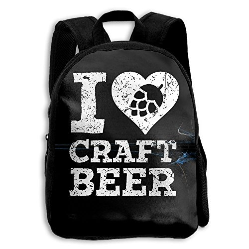 I Love Craft Beer School Backpack Children Printed Oxford Fabric Backpack - Airport Chicago Shopping
