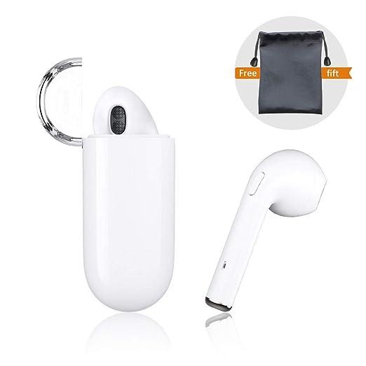 Auriculares Bluetooth, intrauditivos Auriculares inalámbricos TWS ergonómicos con Cargador portátil y reducción de Ruido X 8 8plus 7 7plus 6S Samsung iOS ...