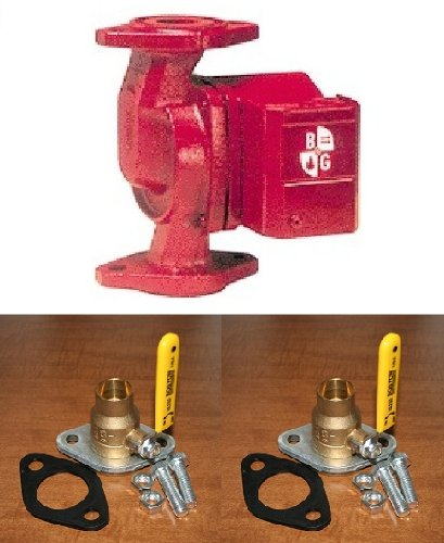 B&G NRF-22 Circulator Pump 103251 w/Solder Rotating Flanged Ball Valves [1-1/4''] by Outdoor Furnace Supply