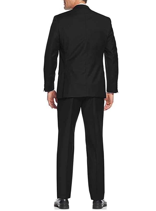 Amazon.com: Salvatore Exte Mens Suit Vested Three Piece ...