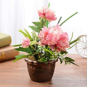 Artificial Begonia - Home Decoration Fashion Simulation Flower Potted Bonsai Creative Plants Mini Ornaments Fake Flowers - Dried Flowers Artificial Artificial Dried Flowers Flower Blossom Wedding 15