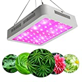 LED Grow Light by ZXMEAN,White 380-730nm Dual Chips Full Spectrum Plant Growth Lamp with Rope Hanger for Indoor Greenhouse Hydroponic Plants Veg and Flower (600W)