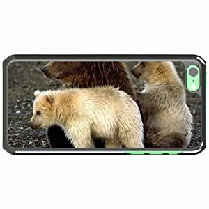 iPhone 5C Black Hardshell Case bears cubs sit playful Desin Images Protector Back Cover