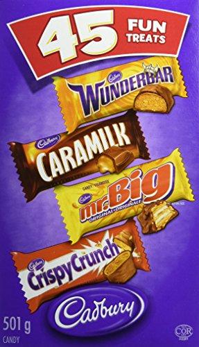 Caramilk Chocolate Bar - Cadbury Fun Treats Chocolate, 45 count- Wunderbar, Mr. Big, Caramilk, Crispy Crunch {Imported from Canada}