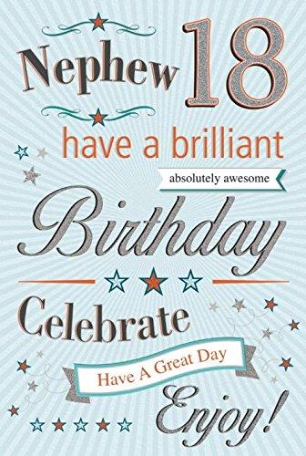 Sobrino 18 cumpleaños feliz 18th dieciocho tarjeta con un ...