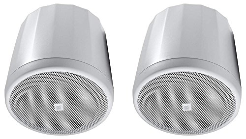 JBL C62P-WH Ultra-Compact Mid-High Satellite Hanging Pendant Speaker, White (sold as pair)