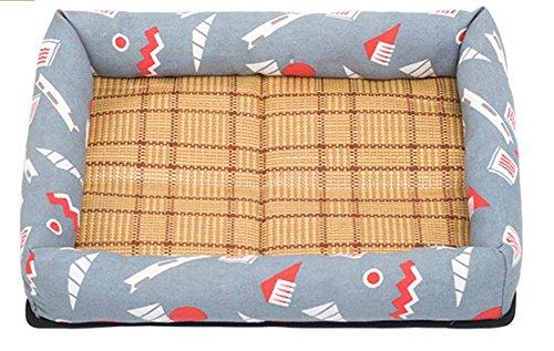 Huihuger Pet Blanket Gabbia di Raffreddonnato Gabbia di Raffreddonnato Letto per Animali Domestici Fredda Stuoia di Sonno Estivo per Cane Gatto (Grigio, S)