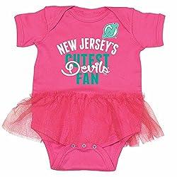 New Jersey Devils NHL Newborn Infant Ballerina Tutu Bodysuit Creeper (0-6 Months)