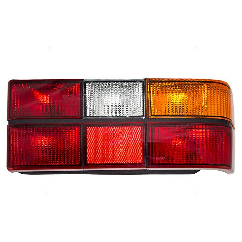 (Passengers Taillight Tailllamp Lens with Black Trim Replacement for Volvo 13724505)