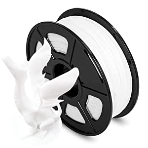 AnKun PLA 3D Printer Filament 1.75mm 1kg (2.2lbs), Dimensional Accuracy +/- 0.02 mm, White 3D Printing Filament Spool Widely Compatible for FDM 3D Printers