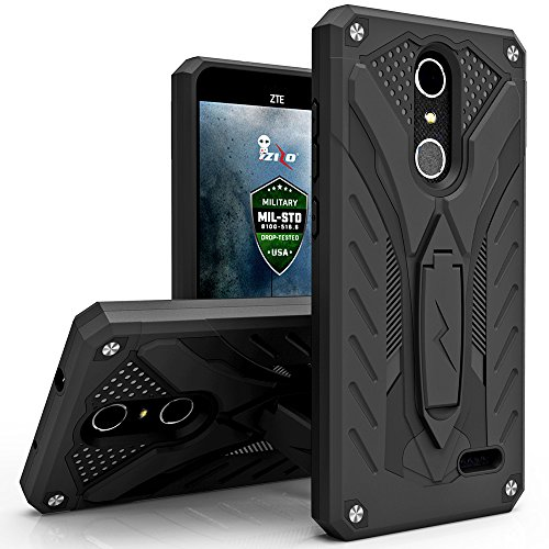 ZTE Grand X4 Case, Zizo [Static Series] Shockproof [Military Grade Drop Tested] w/ Built-in Kickstand [Impact Resistant] ZTE Z956 / Blade Spark Z971