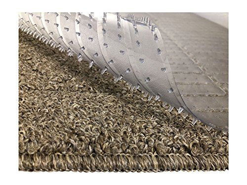 - Resilia - Clear Vinyl Plastic Floor Runner/Protector for Deep Pile Carpet - Non-Skid Decorative Pattern, (27 Inches Wide x 6 Feet Long)