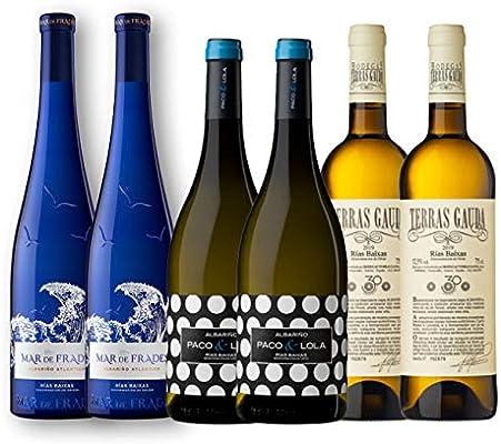 Pack de Vino Blanco | Vinos Rías Baixas | Vinos Albariño | Vinos Gallegos | Pack 6 botellas de vino blanco: Amazon.es: Alimentación y bebidas