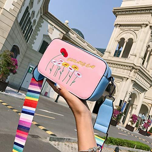 Tendencia Bolsa Lentejuela de de Costura Mujer de láser Contraste gelatina Transparente Paquete Bolso Cuadrada pequeña Carta Color impresión Bolsa Retro EUHfwq4