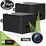 Hidden Camera Charger | 2 Pack | Mini Spy Camera Motion Activated - USB Charger Spy Cam 1080p - Surveillance Hidden Spy Camera - USB Charger Hidden Spy Nanny Cam - Hidden Cam FullHD - No Wi-Fi Needed