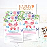 25 Watercolor Butterfly Floral Kid Party