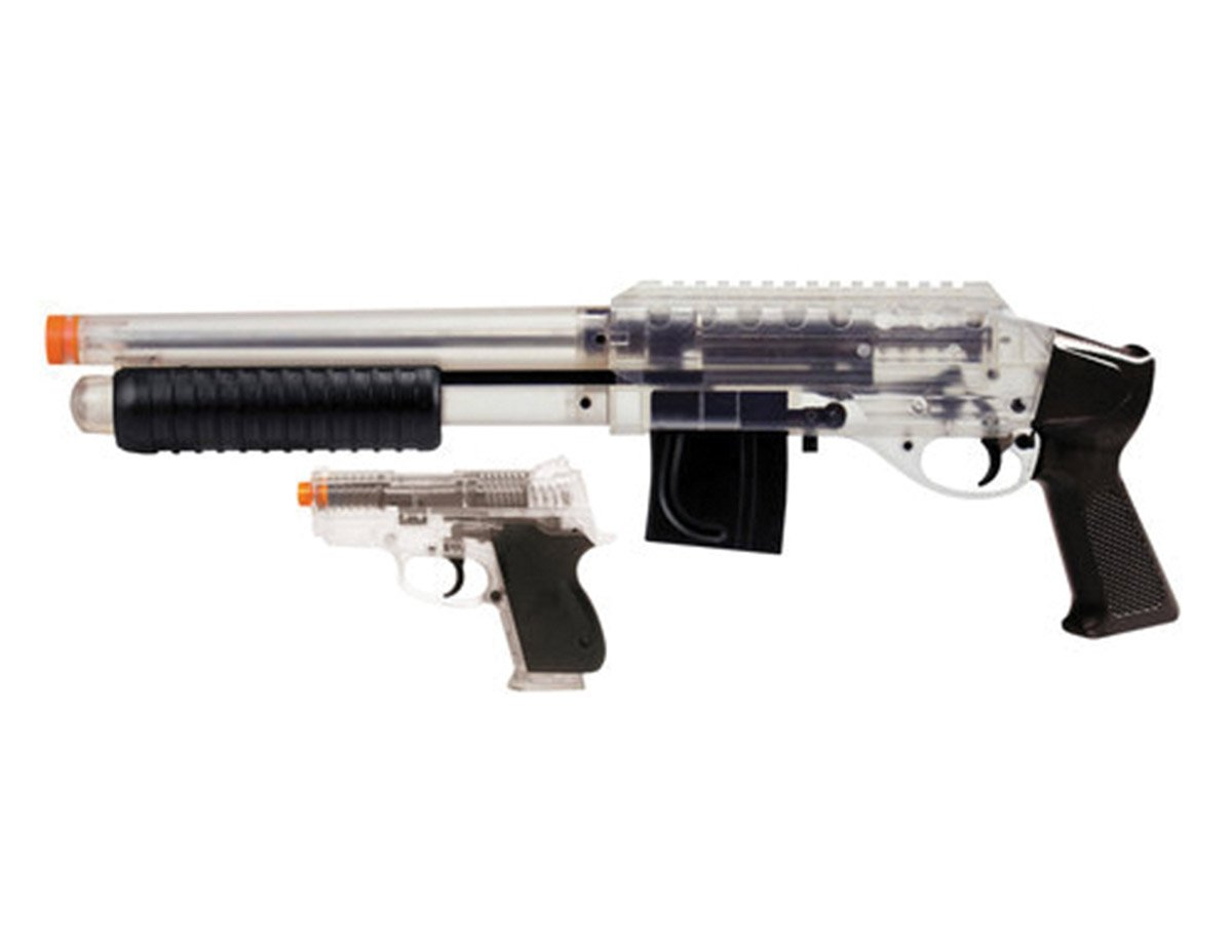 Mossberg M3000 Tactical Airsoft Shotgun and CS45 Airsoft Pistol BB Gun Set Black and Clear by Mossberg
