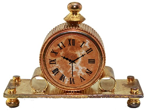 Day Mantle Clock (Solid Brass Dollhouse Mantle Clock)