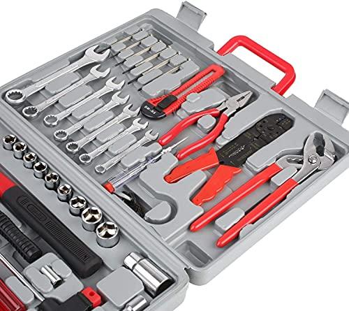 Gizcam 555 PCS Tool Kit,Tool Set, Household Tool Kit, Hand Tool Kit with Plastic Toolbox Storage Box, For Furniture Repair, DIY