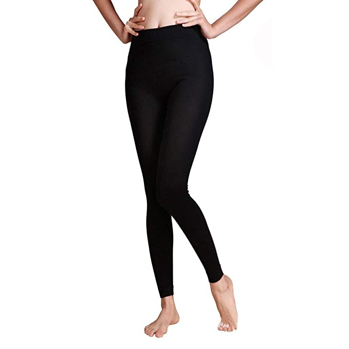 Women YOGA Pants Basic Long Fitness Foldover Cotton Spandex Workout Dance Sports
