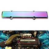 Dewhel JDM Aluminum Spark Plug Cover fit B-Series VTEC Honda Civic B16 B18 (Neo Chrome)