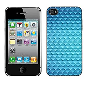 Jordan Colourful Shop - Blue Polygon Scales Dragon Skin For iPhone 4 / 4S Personalizado negro cubierta de la caja de pl????stico