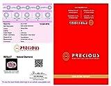 0.09 ct PGTL Certified Oval Cut (3 x 2 mm) Genuine Pink Diamond Loose Stone