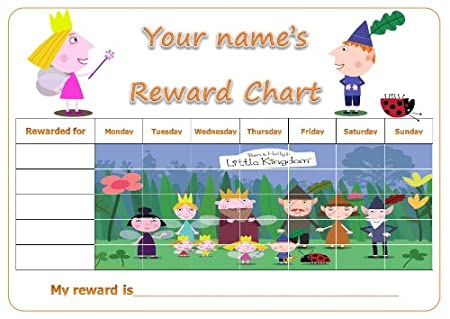 PERSONALISED BEN and HOLLY'S LITTLE KINGDOM REWARD / POTTY TRAINING ...
