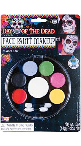 Forum Novelties - Day of The Dead Face Paint Makeup Kit, Net Wt. 14 g/.5 Oz -